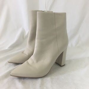 Marc Fisher White Heeled Boots From Nordstrom NWT